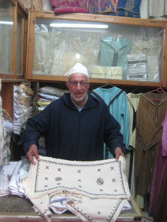 Monsieur Tijani and his Berber embroidery