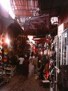 the souks in Marrakech