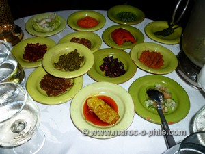 selection of salads at Al Fassia