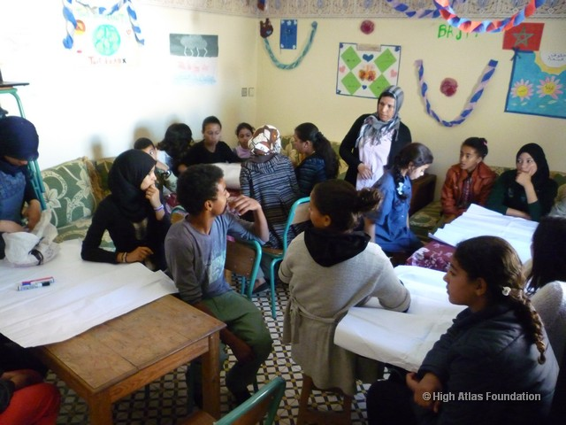 Workshop at Bayti with High Atlas Foundation