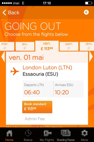 Easyjet flies London to Essaouira